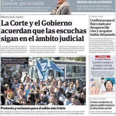 Martes: Tapas de los diarios Nacionales
